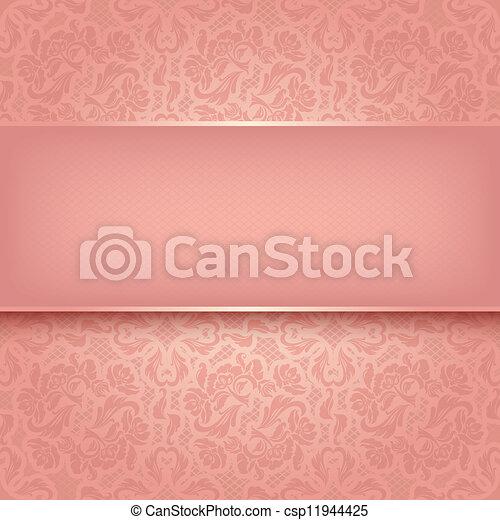 Decorativo adorno rosa - csp11944425
