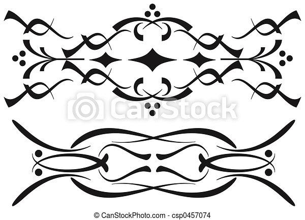 decorativo, scrolls - csp0457074