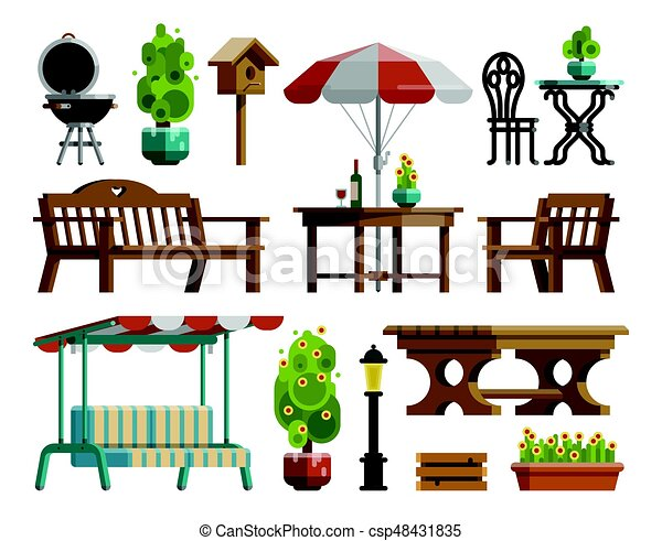 Magnífico Muebles De Jardín De Arte Motivo - Muebles Para Ideas de ...