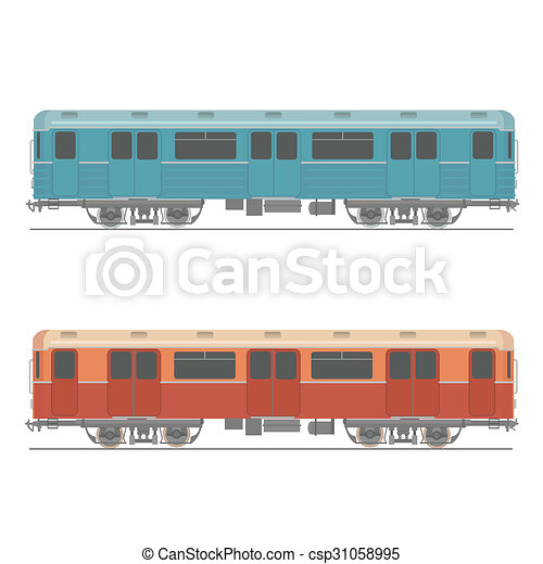 decorativo urbano veloz colorido car elemento item trem
