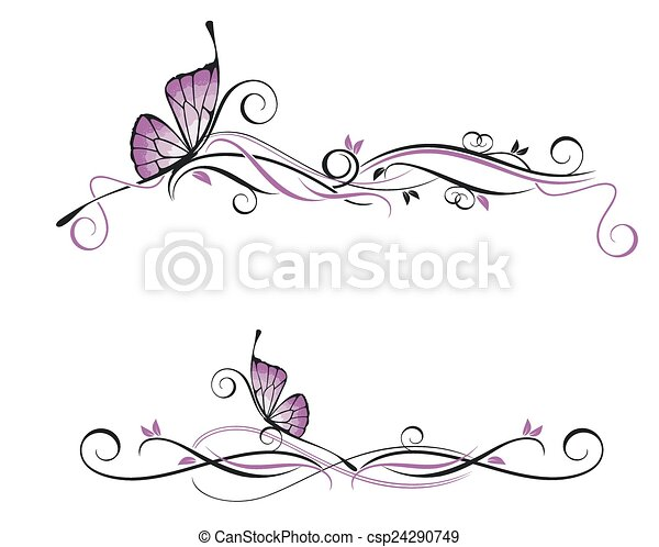 Ornamento vectorial decorativo - csp24290749