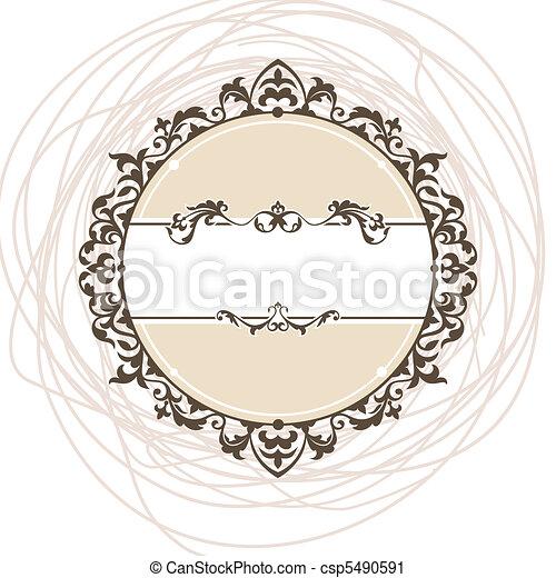 decorativo, vendemmia, cornice - csp5490591