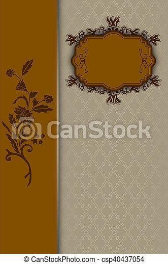 decorativo, vendimia, frame., plano de fondo - csp40437054