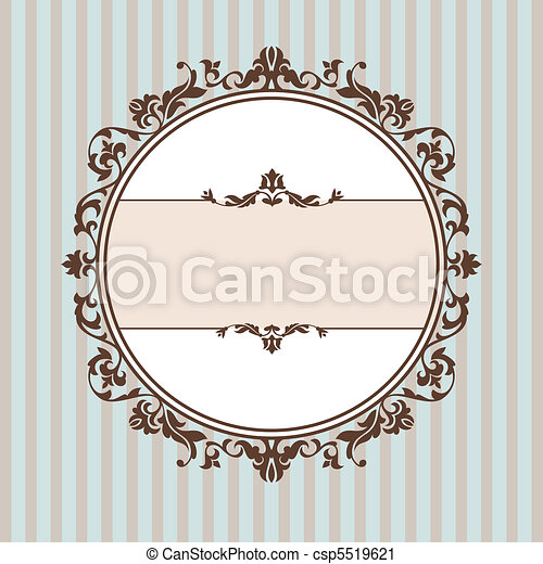 Un marco vintage decorativo - csp5519621