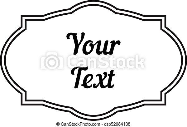 Decorativo, vendimia, marco, etiquetas, fotos, texto. Decorativo ...
