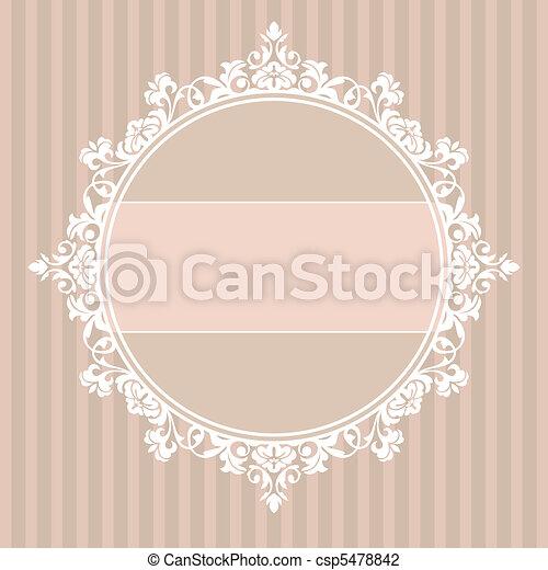 Un marco vintage decorativo - csp5478842
