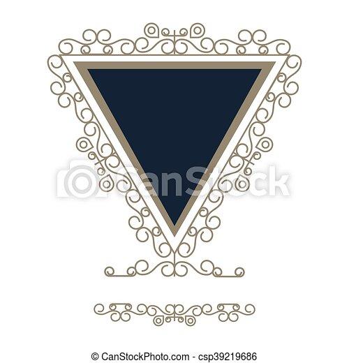 Un icono de marcos tradicionales triángulo - csp39219686