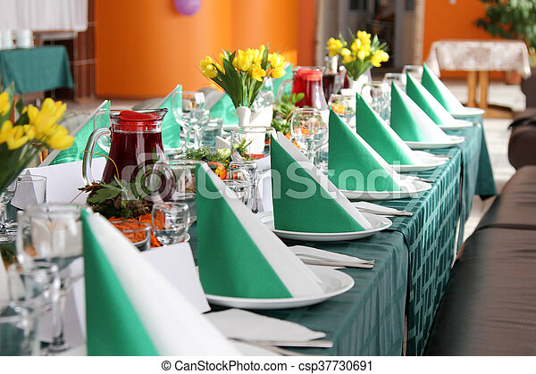 decorato, tavola. - csp37730691
