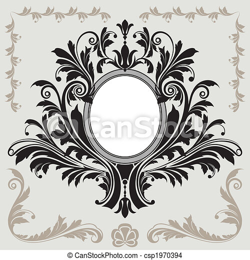 decorazione floreale, cornice - csp1970394