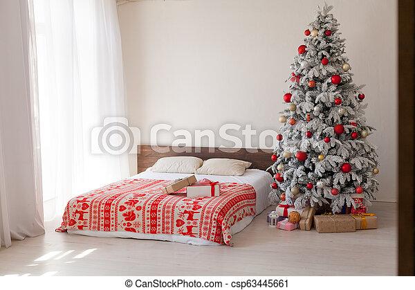 Decorazione Stanza Anno Regali Allegro Camera Letto Nuovo Natale Bianco Decorazione Stanza Anno Allegro Camera Canstock