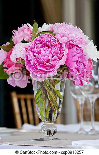 decorazione, tavola, matrimonio, serie - csp8918257