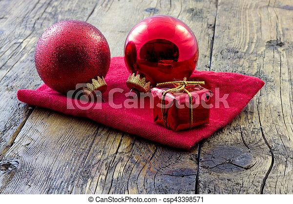 decorazioni natale, rosso - csp43398571
