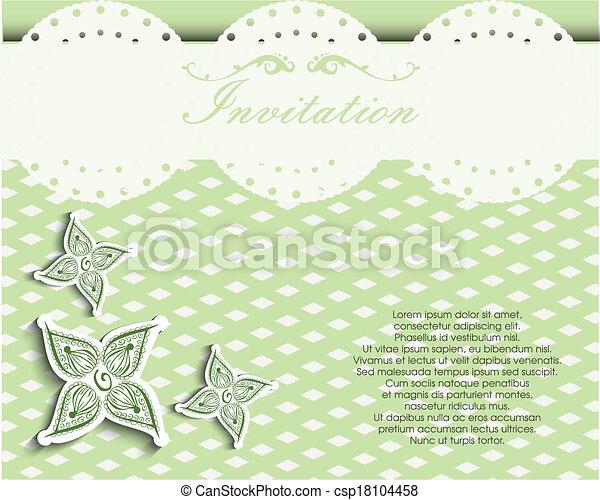 decoretive, kort, inbjudan - csp18104458