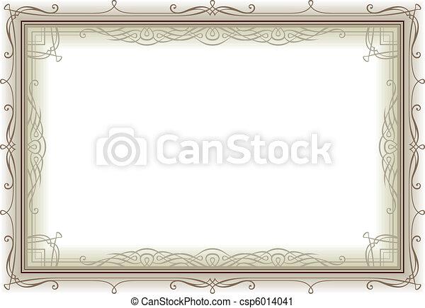 decoretive vintage frame - csp6014041