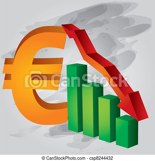 Decrease in Euro - csp8244432