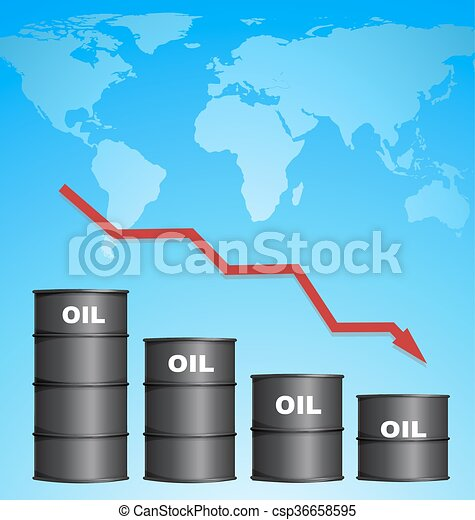 Decreasing price of oil with world map background credit eps decreasing price of oil with world map background csp36658595 gumiabroncs Choice Image