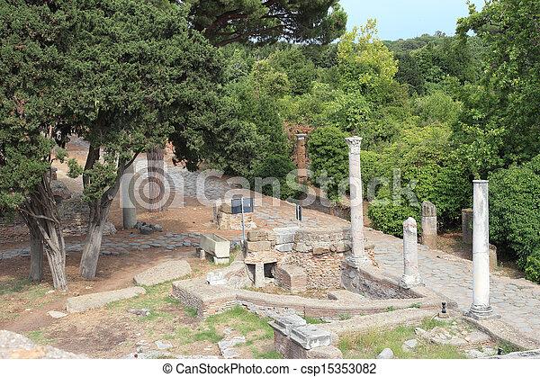 Decumano ancient Roman Road - csp15353082
