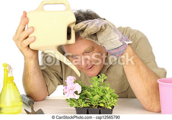 Dedicated Gardener - csp12565790