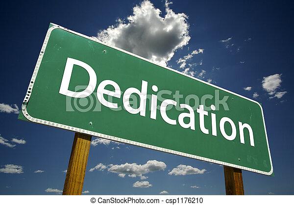 Dedication Road Sign - csp1176210