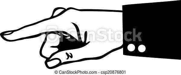 Señalando con el dedo - csp20876801