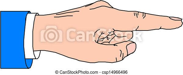 Señalando con el dedo - csp14966496