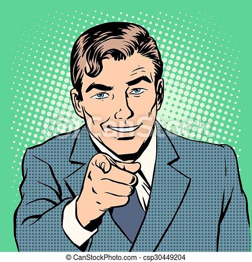 Hombre señalando con el dedo - csp30449204