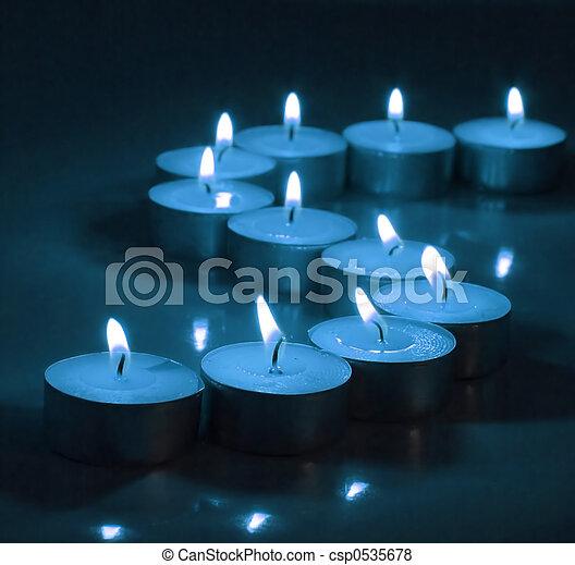 Deep Blue Candlelight Tea Lights - csp0535678
