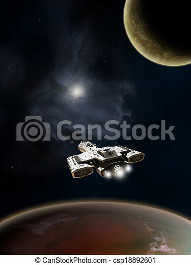Deep Space Spaceship - csp18892601