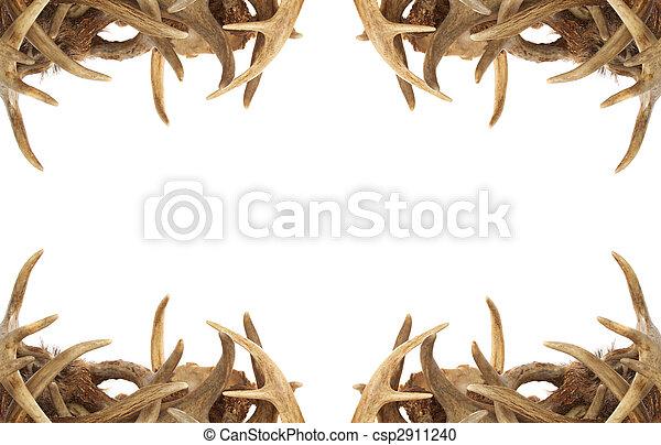 Deer Antler Border - csp2911240