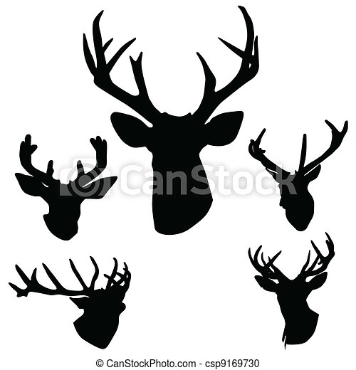 deer antlers silhouette art vector illustration on white rh canstockphoto com deer antler vector free deer antlers silhouette vector