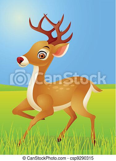 Deer cartoon  - csp9290315