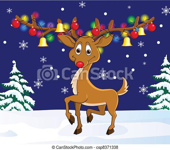 Deer cartoon - csp8371338
