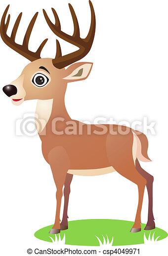 Deer cartoon - csp4049971