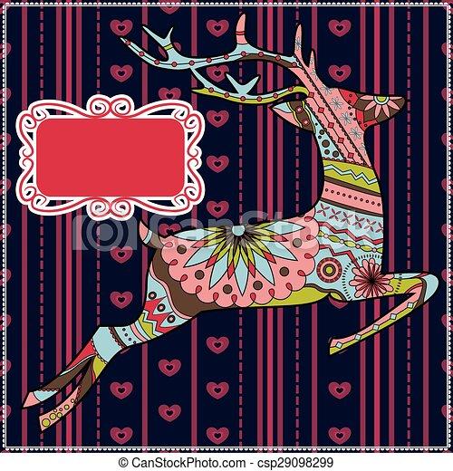 Deer christmas background - csp29098299