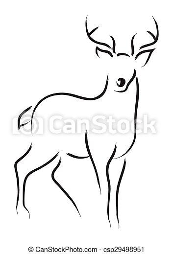simple deer drawing