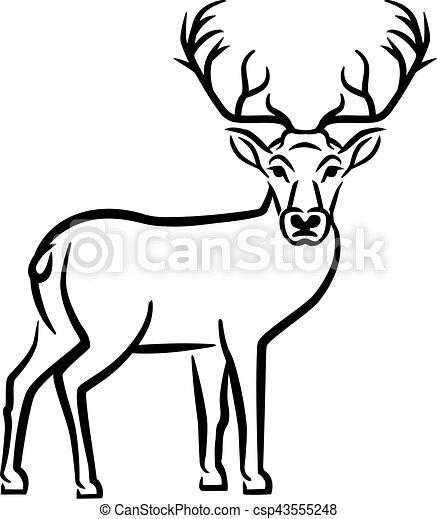 Deer Drawn - csp43555248