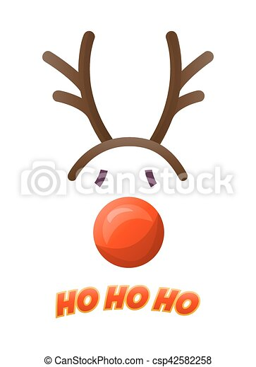 Deer hat isolated on white background - csp42582258