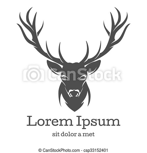 Deer head emblem - csp33152401