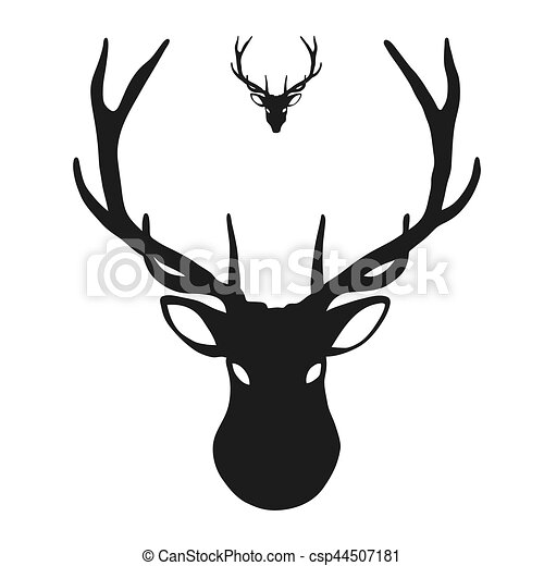deer head icon hand drawn vector clipart vector search clip art rh canstockphoto com deer head clip art silhouette deer head clip art with shotguns