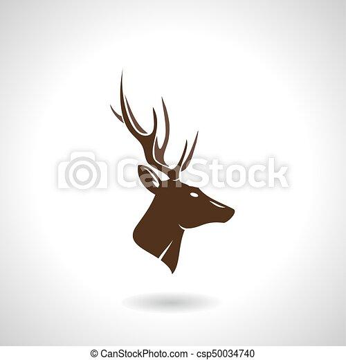 Deer Head Silhouette Deer Head Animal Symbol Lemblem Or Eps