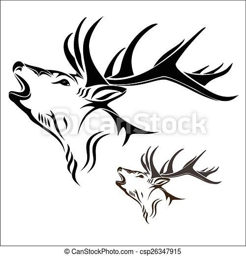 Deer Head Silhouette Tattoo