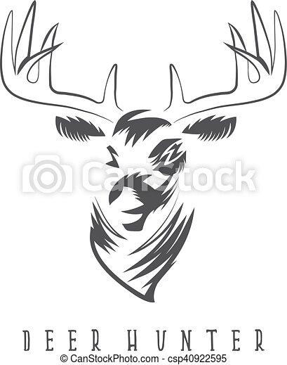 Deer head vector design template,hunting illustration eps vectors ...
