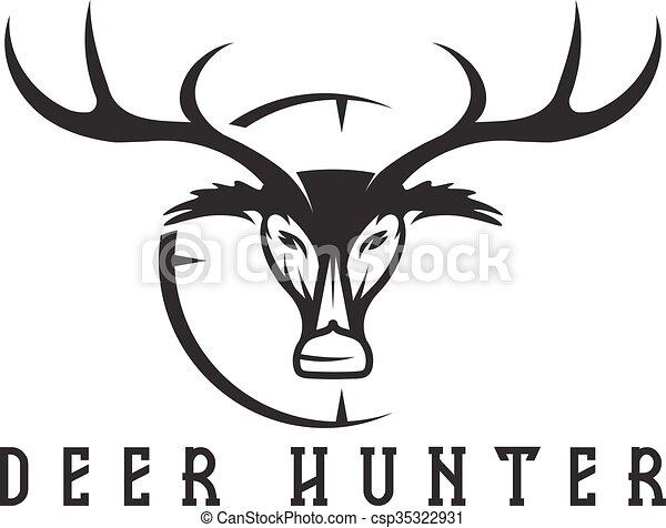 Deer head with target vector design template vectors - Search Clip ...