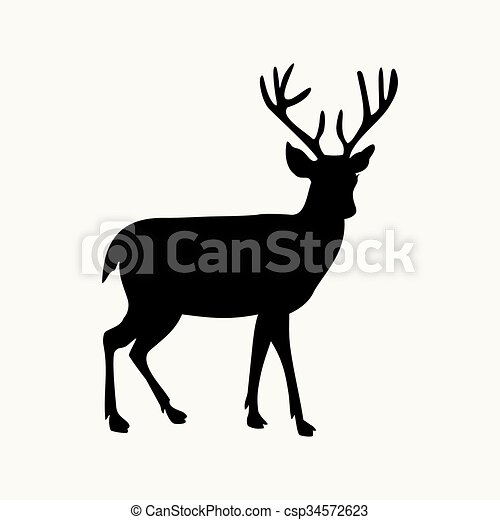 deer icon - csp34572623