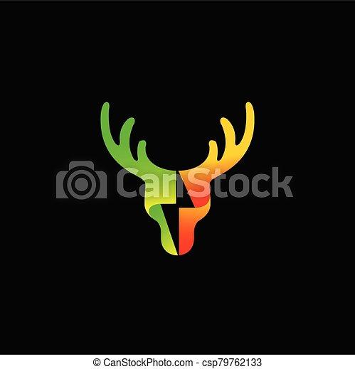 Deer logo design, Green energy logo - csp79762133