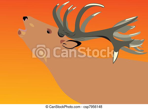Deer on a decline - csp7956148