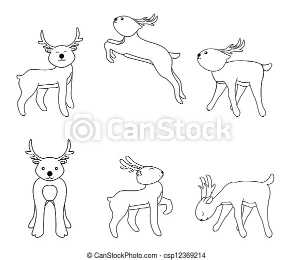 deer set - csp12369214