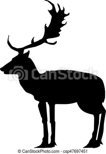 deer, side view - csp47697451