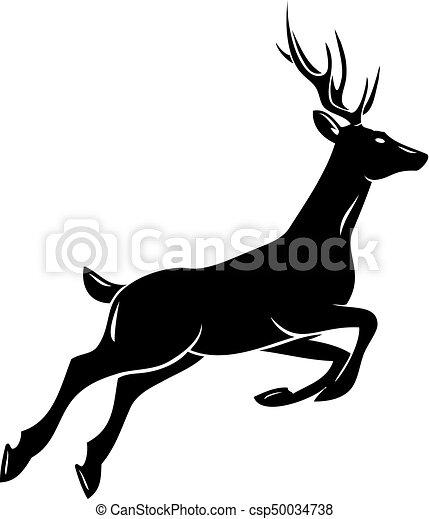 Deer Silhouette Deer Head Animal Symbol Lemblem Or Vectors