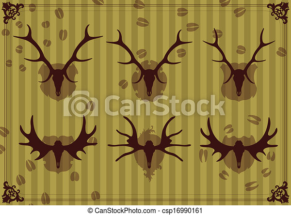 Deer vector background - csp16990161